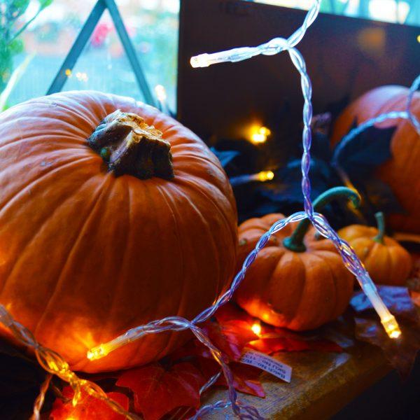 Pumpkin Window Ledge