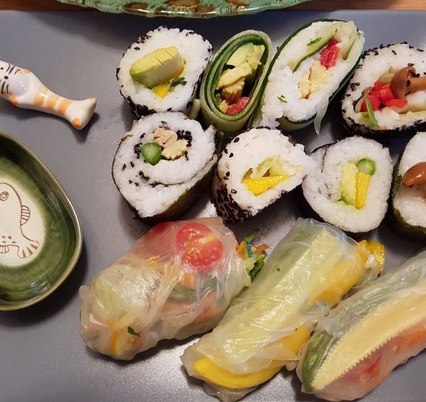 Homemade Sushi for New years eve snacks