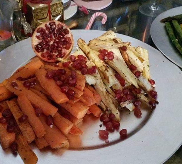 Carrots and parsnips with a sweet twist