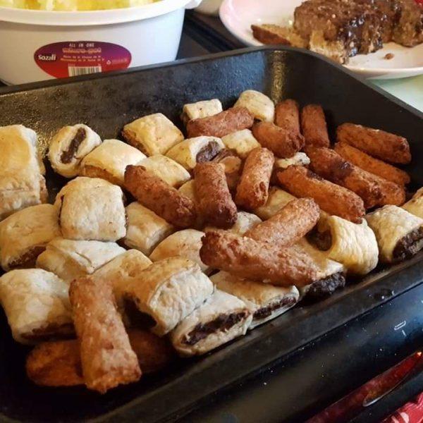 Mini Linda McCartney mini cocktail sausages and wellingtons