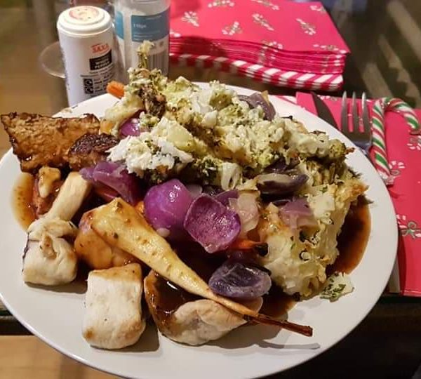 A mountain of Christmas day dindins!