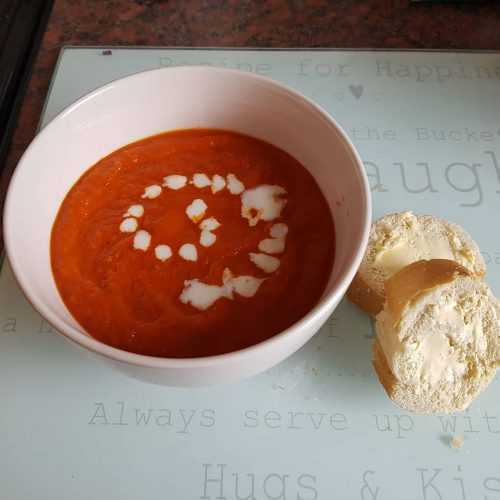 Warming Homemade tomato & Pepper soup