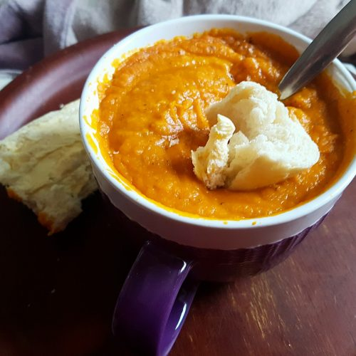 Hearty homemade pumpkin Soup!