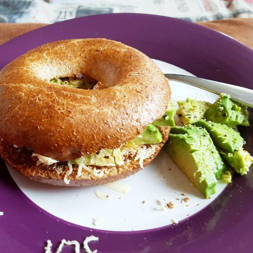 Fresh green bagel!